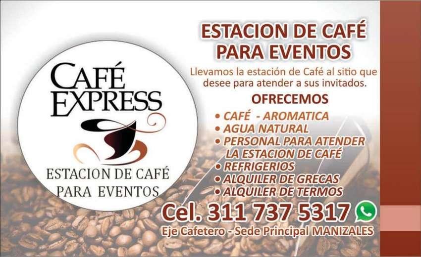 ESTACIÓN DE CAFÉ PARA EVENTOS - CATERINGG - GRECAS