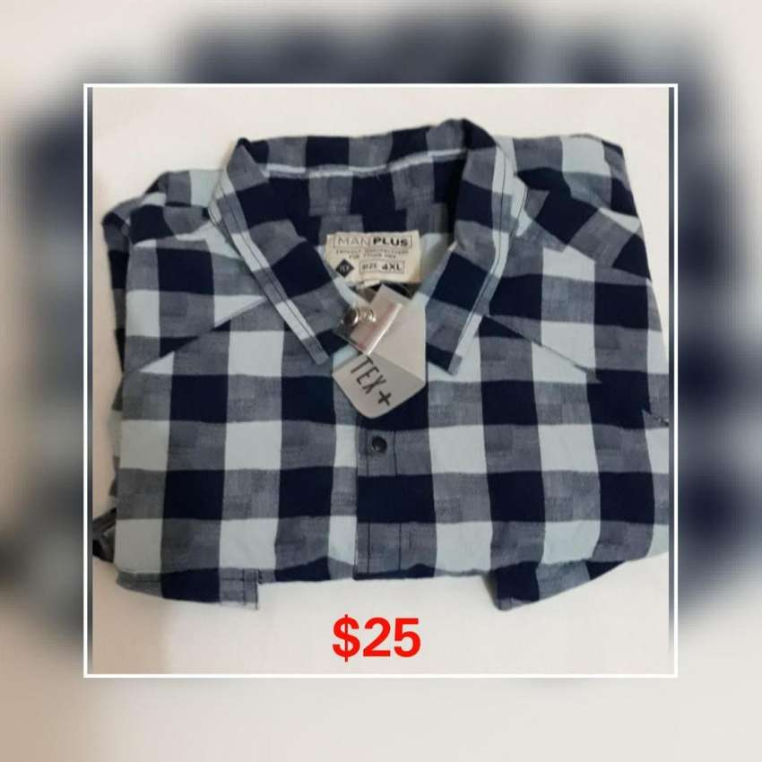 CAMISA PLUS MANGAS LARGAS TALLA 4XL 0
