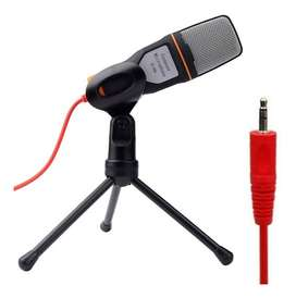 Micrófono condensador Sf-666 + Trípode Y Cable Audio