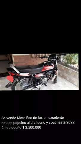 Vendo moto usada como nueva
