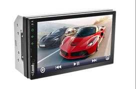 Radio para Carro Mp5 Ref 7023 con Pantalla 7 Tactil Bluetooth con Camara Reversa Vehiculo