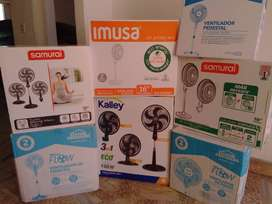 Ventiladores Samurai, kalley, Home elements con Garantia