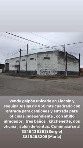 Galplon ubicado en lincoln y alsina de 650mts cuadrado en San Miguel de Tucuman.