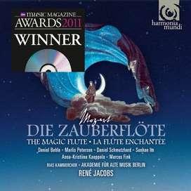 Wolfgang Amadeus Mozart: The Magic Flute - René Jacobs - Conductor  RIAS Kammerchor - Choral ensemble  Akademie für Alte