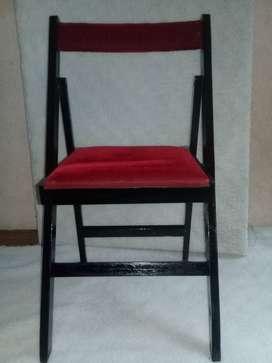 silla plegadiza de madera masisa