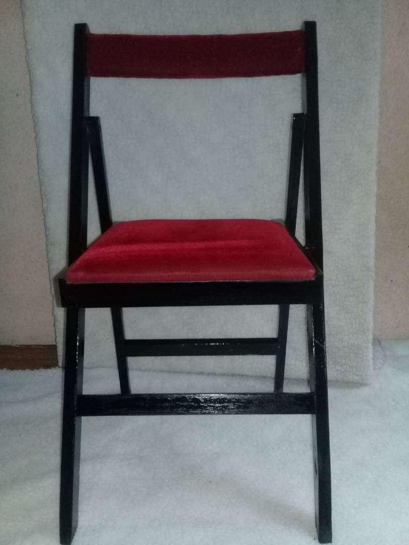 silla plegadiza de madera masisa 0