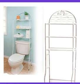 Estante repisa 3 niveles baño metálico