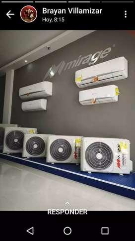 Minisplit Mirage ventas por mayor y detal