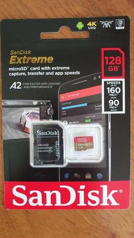 Micro Usb 128gb Sandisk Extreme Premium A2
