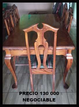 VENDE COMEDOR DE CEDRO NEGOCIABLE