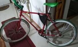 bicicleta FIXie Bicicleta Fixer Roja Verde bici CAMBIO