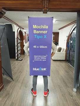 Mochila Banner Tipo X Para Publicidad, Human Banner.
