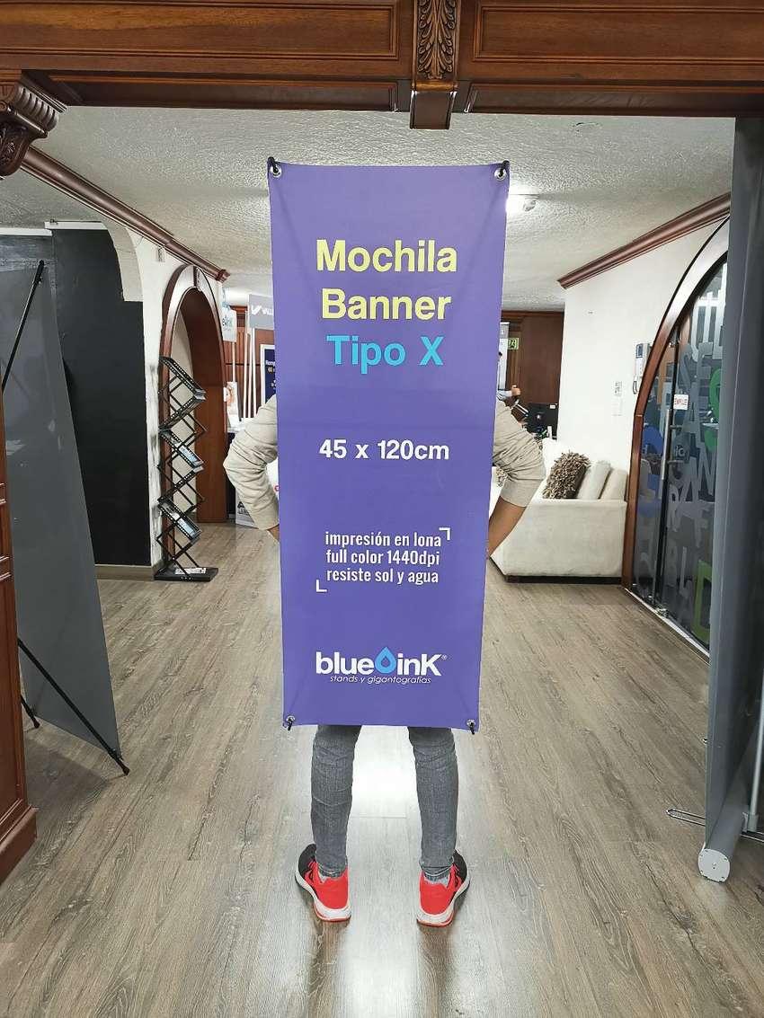 Mochila Banner Tipo X Para Publicidad, Human Banner. 0