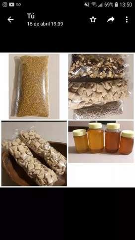 Miel pura de abeja,de azahar,de pradera ,de monte y polen de quebracho