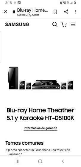 Blu-ray Home Theather 5.1 HT-D5100K