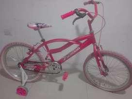 Bicicleta niña de princesas negociable
