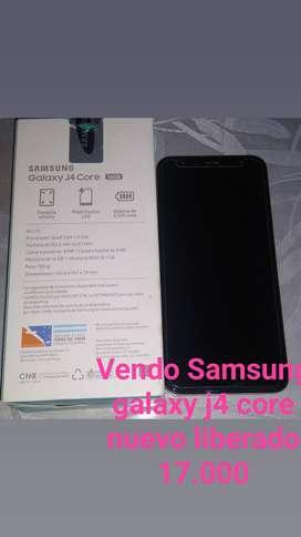 Vendo celular Samsung galaxy j4 core liberado se compró y no se usó