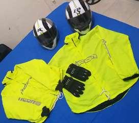 Cascos y ropa para  motociclista