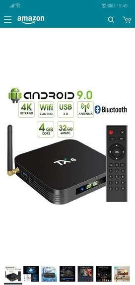 Tv Box Android 9.0 Tx6 4gb Ram 32gb Mmc