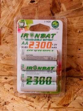Baterías recargables AA 2300 mAh