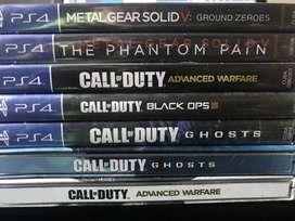 lote 7 games ps4 coleccion completa juegos importados de estados unidos