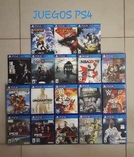 Vendo Juegos de Play 4