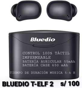 AURICULARES BLUETOOTH BLUEDIO T ELF 2 TACTIL