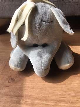 Peluche Elefante Gris Alto 19cm