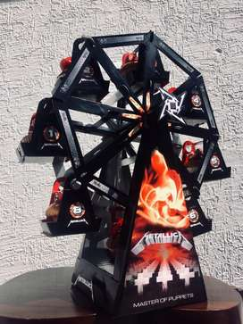 Rueda de Muffins personalizada de Metallica