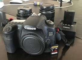 Canon 60d Completa + Canon 50mm 1.4 + 18-55 Kit + Mochila