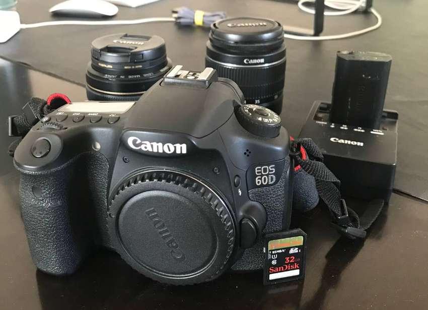 Canon 60d Completa + Canon 50mm 1.4 + 18-55 Kit + Mochila 0