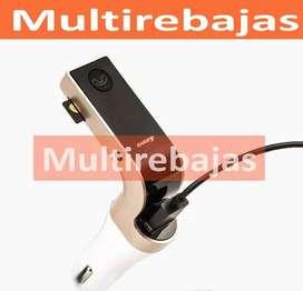 A Domicilio Transmisor Fm Bluetooth Mp3 Usb Cargador De Celular