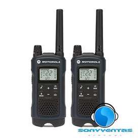 Radios Comunicación Motorola T460. Resistente lluvia y polvo. 56km. Sellados, Sin Iva!!!