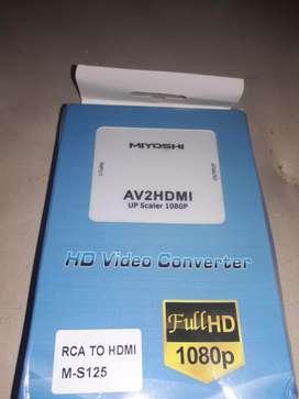 Convertidor de video de RCA  A HDMI, Marca Miyoshi