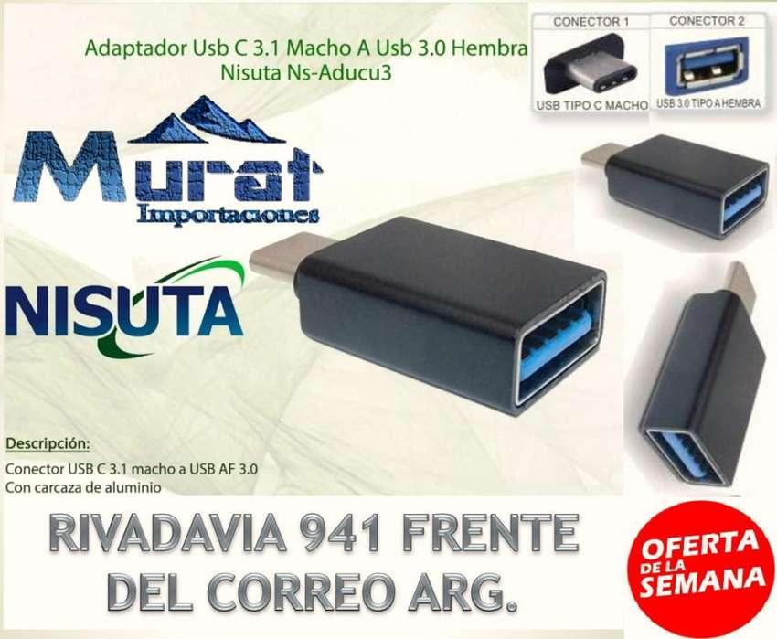ADAPTADOR USB TIPO C 3.1 MACHO A USB 3.1 HEMBRA 0