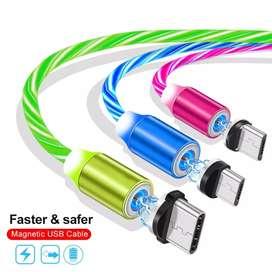 Cable magnético con luz led