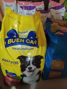 Alimento buen Can para adulto y cachorro por quintal