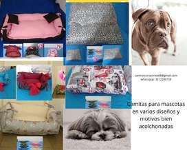 Cucha para mascota en varios diseños tamaños y motivos