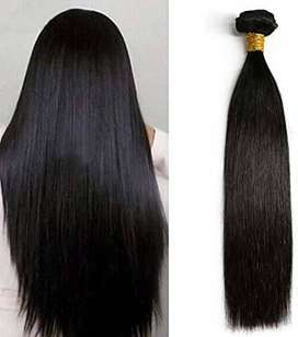 Extensiones semi-naturales color negro de 22""