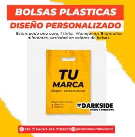 1000 bolsas plasticas boutique personalizadas