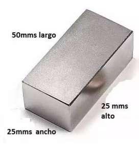 Imanes de neodimio 50x25x25mm