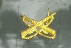 Distintivo Infantería Metálico Fusiles Cruzados, Zona Norte!!