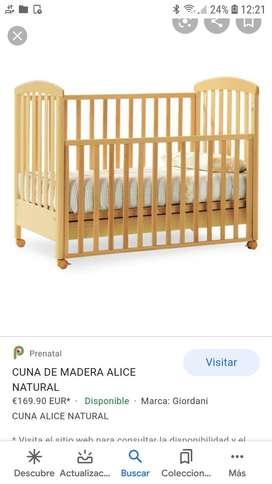 Vendo cunita de bebé