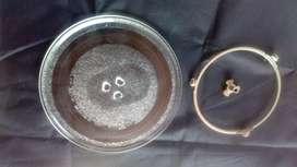Plato para Microondas, original en vidrio Templado, con Aro Y Empatad