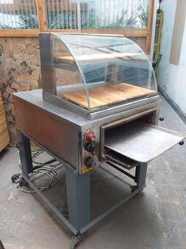 horno electrico a 110 voltios - con vitrina exhibidora- especial para horneado de almojabanas-pandebonos- hojaldres