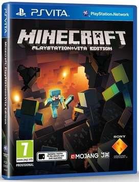 Minecraft para ps vita original nuevo sellado