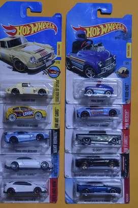 Hot Wheels Lote 10 carros Ediciones Pasadas Nuevos Coleccionables L7