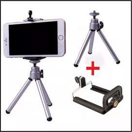 Tripode metálico retractil para celulares y cámaras digitales