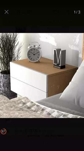 Mesa de noche doble cajon unicolor o combinada