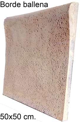 Vendo Piso atérmico para Piscina, Borde ballena y Solarium 50x50 cm.